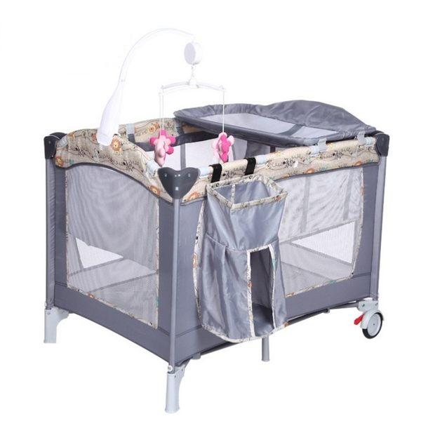 豪華遊戲床    遊戲床  多功能遊戲床   嬰兒床 雙層床   疊 附置物袋 尿布台 音樂鈴