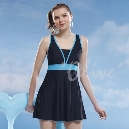 ☆小薇的店☆泳之美品牌【簡約素雅風格】時尚連身裙泳裝特價1090元 NO.2357(L-2L)