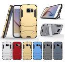 King*Shop~新爆款三星S7手机套G9300二合一手機支架殼 SM-G930A F鎧甲鋼鐵俠手機套