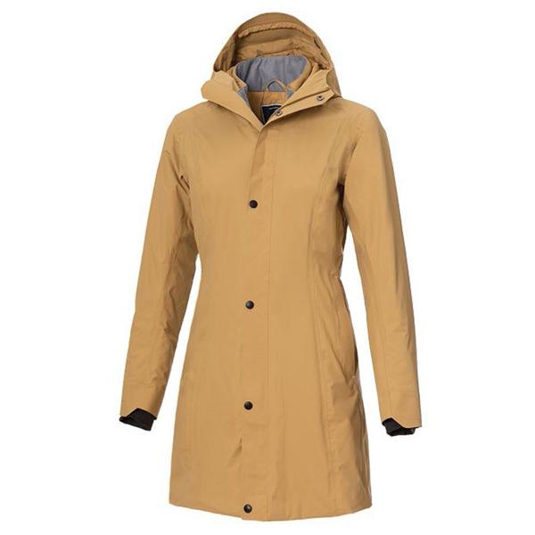 【wildland 荒野】女 長版PR棉輕量防水外套『黃卡其』0A72901 戶外 休閒 運動 冬季 保暖 禦寒