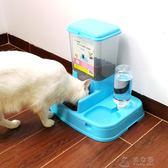 貓碗狗碗貓食盆雙碗狗盆自動飲水喂食器貓盆貓狗狗用品飯盆貓糧盤      俏女孩