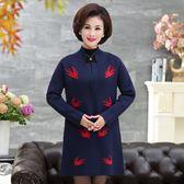 全館83折媽媽秋裝新款針織開衫女中長款寬鬆風衣40歲50中年修身顯瘦薄外套
