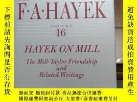 二手書博民逛書店Hayek罕見on mill volume16Y268520 F