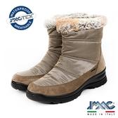 【IMAC】義大利進口毛飾防水透氣女靴/短靴  淺咖啡(207989-MBR)