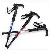 登山杖-超輕安全手柄兩種可選戶外爬山拐杖4色71c34【時尚巴黎】