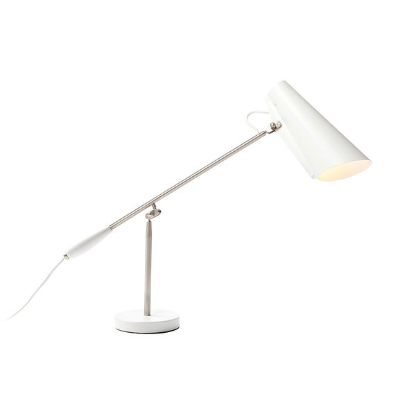挪威 Northern Lighting Birdy Table Lamp 博蒂系列 懸臂 桌燈(白色款 - 霧銀支架)