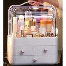化妝品收納盒 北歐風格防塵有蓋大容量多層...