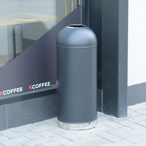 戶外子彈頭垃圾桶 商場餐廳圓形不銹鋼垃圾桶 奶茶店大號無蓋桶 夢幻小鎮「快速出貨」