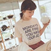 MUMU【T65331】MONDAYS 字母短袖上衣