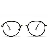 鏡架(圓框)-文藝氣質熱銷復古男女平光眼鏡6色73oe33【巴黎精品】