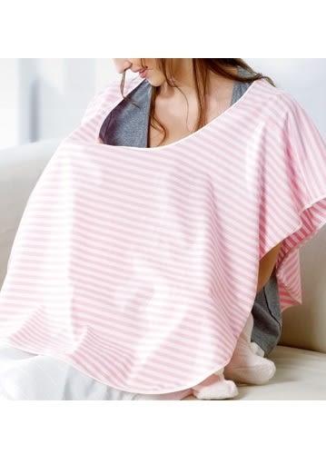 『121婦嬰用品館』六甲村 舒適型授乳巾-粉白