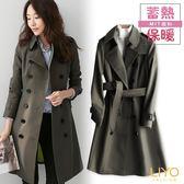 外套-LIYO理優-精品風衣MIT英倫翻領顯瘦蓄熱保暖外套E848005