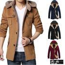 『潮段班』【HJ0FY101】推薦款 韓版加絨加厚立體版型連帽外套 保暖外套 保暖夾克