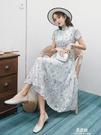旗袍洋裝夏季新款式小清新旗袍年輕款少女改良版不開叉時尚氣質連衣裙YYJ 易家樂
