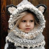 #毛帽#萌#卡通 可愛 耳朵 抽繩 套頭 針織 毛線帽【YJM-A146】 icoca
