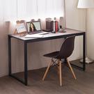 電腦桌 桌子 收納【收納屋】德爾128cm寬穩固鐵管書桌