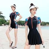 游泳衣連身女2020新款遮肚顯瘦性感保守學生韓國ins專業女士泳裝 【ifashion·全店免運】