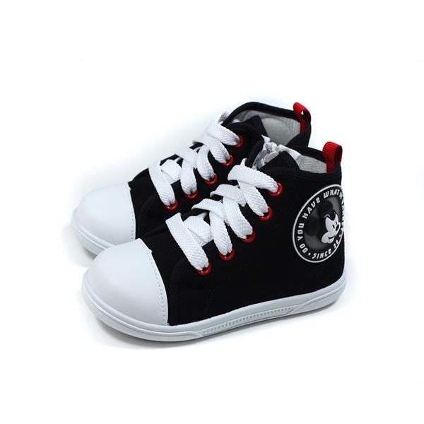 Disney Mickey Mouse 迪士尼 米奇 休閒鞋 拉鍊 中童 童鞋 黑色 D120423 no028
