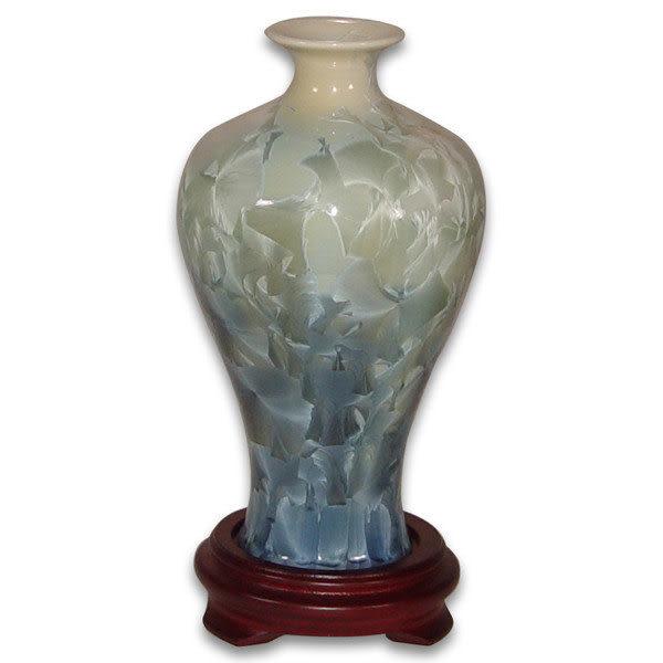 鹿港窯~居家開運結晶釉~7.5英吋小梅瓶花瓶;購物清單:1件