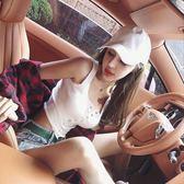 排釦背心 夏季新款性感女神螺紋彈力單排釦緊身顯瘦背心純色打底上衣