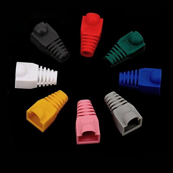 【DD234】網路水晶頭護套RJ45 水晶頭 保護套 膠套接頭 五類跳線護套 網線保護套 EZGO商城