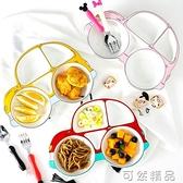餐盤餐具陶瓷家用分格盤卡通創意盤子防摔分隔早餐盤套裝 雙12全館免運