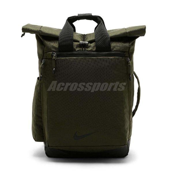 Nike 後背包 Vapor Energy 2.0 男女款 訓練 雙肩背 包包 水桶包 可手提 軍綠 【PUMP306】 BA5538-395