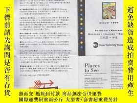 二手書博民逛書店NYC罕見SUBWAY MAP (紐約地鐵圖) 4開Y19880