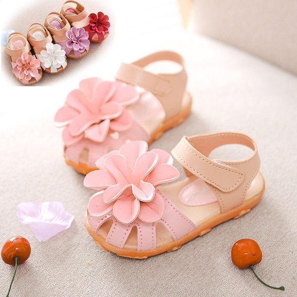 花朵涼鞋 軟膠底  橘魔法Baby magic 現貨 兒童 童鞋  童裝 皮鞋