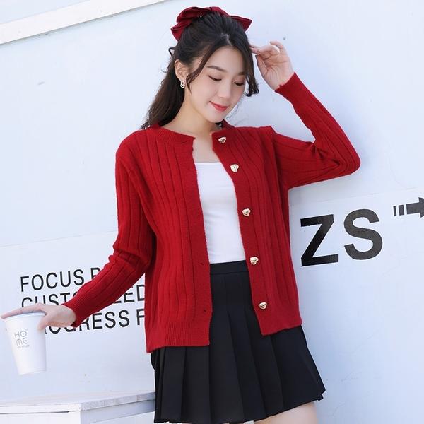 針織開衫 秋冬溫柔風長袖針織衫女裝韓版寬松外搭薄款毛衣開衫外套
