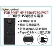攝彩@樂華 FOR SONY NP-F550/F750/F970 LCD顯示USB雙槽充電器 一年保固 米奇雙充