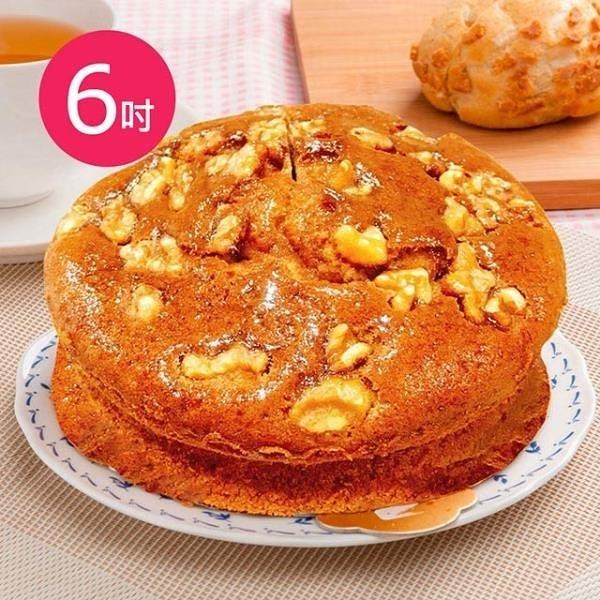 【南紡購物中心】預購-樂活e棧-生日快樂蛋糕-香蕉核桃蛋糕(6吋/顆,共1顆)