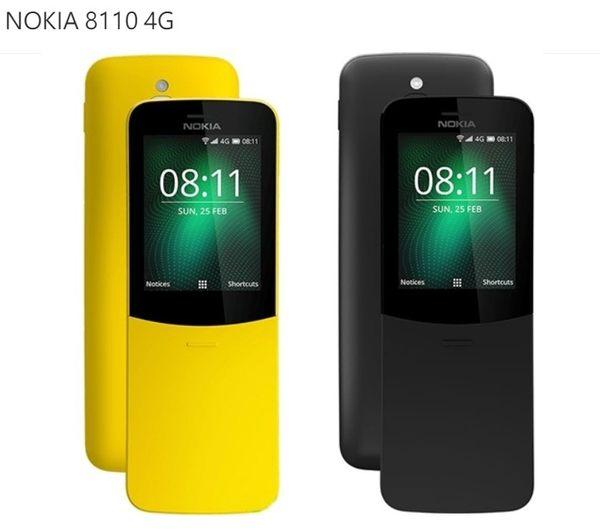 香蕉手機經典復刻版【NOKIA 8110 4G香蕉機】2.4吋螢幕/可拆式電池/200萬畫素/曲面滑蓋