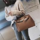 側背包大包包女新款潮韓版復古手提包百搭休閒側背包單肩鉑金包 中秋節全館免運
