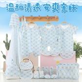 嬰兒衣服夏季薄款純棉新生兒禮盒套裝0-3個月6初生剛出生寶寶用品