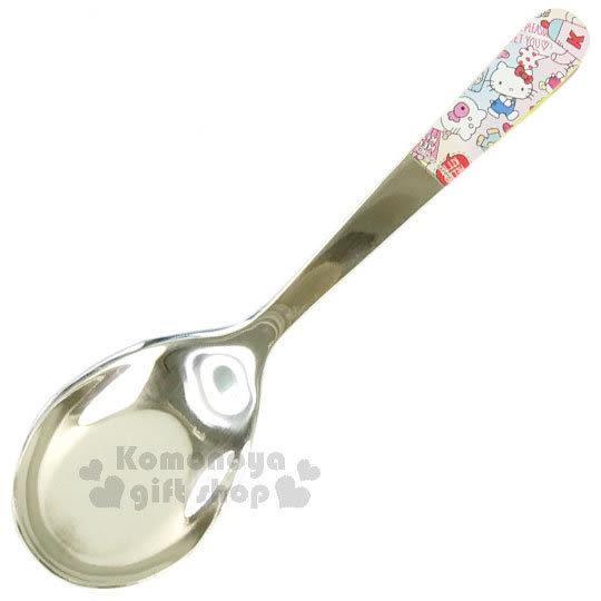 〔小禮堂〕Hello Kitty x Wei Wei 不鏽鋼湯匙《粉.大.茶壺.藍吊帶褲》304不鏽鋼 5712977-13483