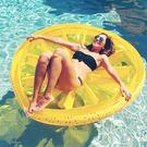 風靡歐美.超大水果檸檬浮圈浮床游泳圈救生圈.充氣浮床氣墊.贈充氣筒【魔幻甜心】