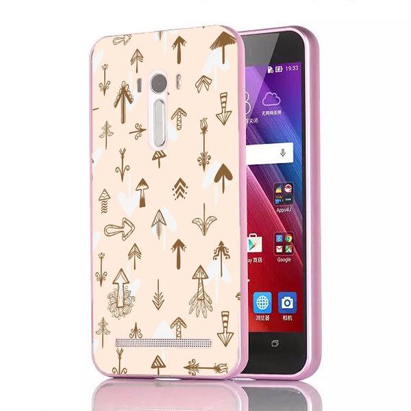 ♥ 俏魔女美人館 ♥{三角愛心-立體浮雕金屬邊框}ASUS Zenfone Selfie手機殼 保護套 保護殼 保護套
