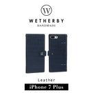 【G2 STORE】WETHERBY Croco snap 鱷魚壓紋鈕扣版 iPhone 7/8 Plus 手工製作 真皮 保護套 皮套 海軍藍