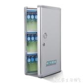 鑰匙箱仲介鋁合金鑰匙櫃壁掛式48位鑰匙箱汽車鑰匙管理箱鎖匙收納盒 LX 熱賣單品