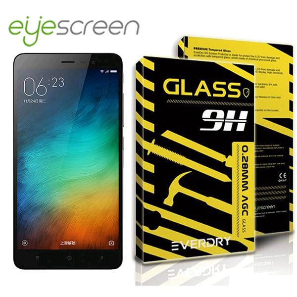 TWMSP★按讚送好禮★EyeScreen MIUI 紅米 Note 3 Everdry AGC 9H 0.28mm 業界首創半年保固 防爆強化玻璃