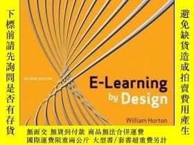 二手書博民逛書店e-Learning罕見by Design, 2nd EditionY410016 William Horto