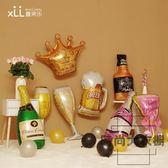 買二送一 結婚房布置情人節兒童生日酒吧派對裝飾香檳酒杯氣球【時尚大衣櫥】