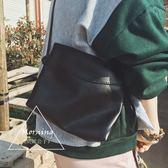 韓國簡約波浪單肩包女包 學院風百搭PU斜挎包經典時尚女士小包包