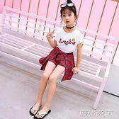 童裝格子套裝新款潮衣兒童韓版夏季短袖兩件套潮   時尚教主