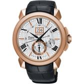 SEIKO 精工錶 Premier KINETIC 人動電能萬年曆腕錶 SNP150J1 熱賣中!