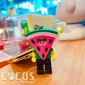 正版 LEGO 樂高鑰匙圈 西瓜人 人偶鑰匙圈 鎖圈 吊飾 COCOS FG280