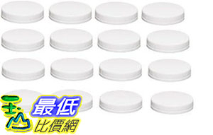 [107美國直購] 寬口梅森瓶蓋 Ball Wide-mouth Plastic Storage Caps, 16-count (one size)