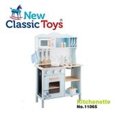 【荷蘭 New Classic Toys】聲光小主廚木製廚房玩具-淺藍 11065