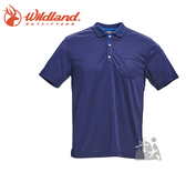 丹大戶外【Wildand】荒野 男椰碳紗YOKE領抗菌上衣 0A71652-72 深藍色